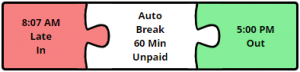 web time clock error